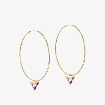 Amethyst Nabla Infinity Hoop Earrings (Medium)