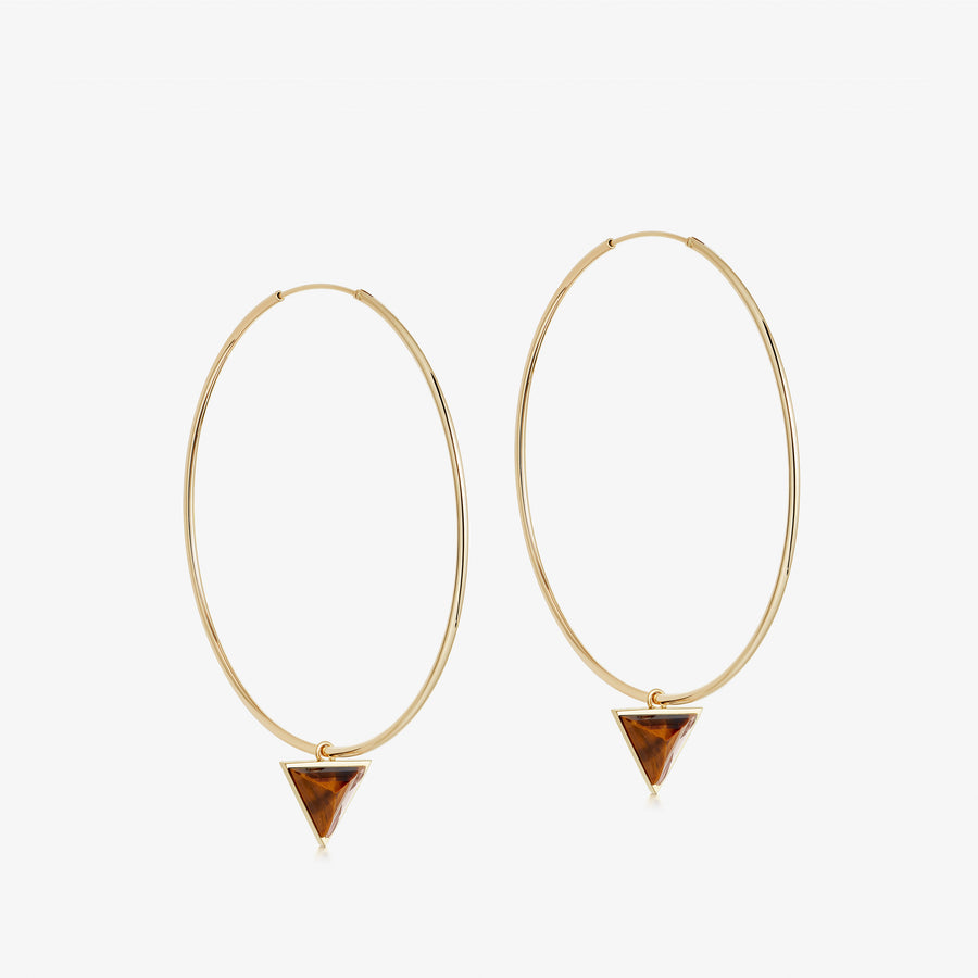 Tiger's Eye Nabla Infinity Hoop Earrings (Medium)