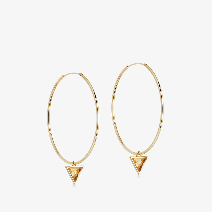 Citrine Nabla Infinity Hoop Earrings (Small)