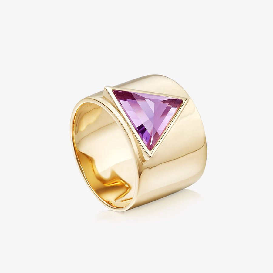 AMETHYST ULTIMATE GUARDIAN RING GOLD (WIDE)