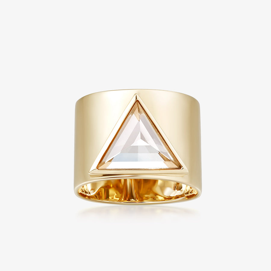 CLEAR QUARTZ ULTIMATE GUARDIAN RING (GOLD)