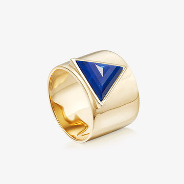 BLUE LAPIS ULTIMATE GUARDIAN RING GOLD (WIDE)