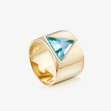 BLUE TOPAZ ULTIMATE GUARDIAN RING (GOLD)
