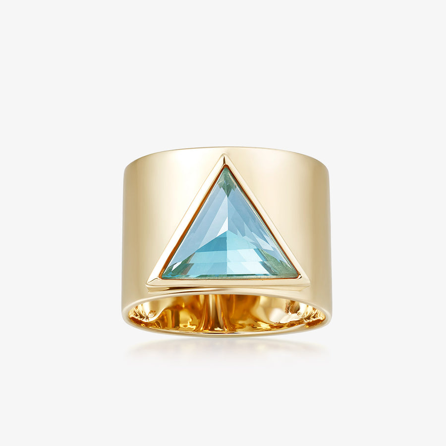 BLUE TOPAZ ULTIMATE GUARDIAN RING GOLD (WIDE)