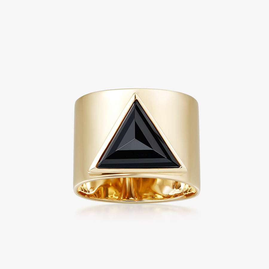 BLACK ONYX ULTIMATE GUARDIAN RING GOLD (WIDE)
