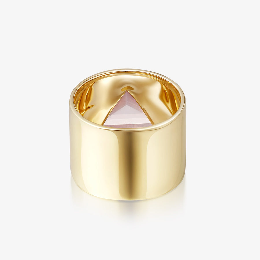ROSE QUARTZ ULTIMATE GUARDIAN RING (GOLD)