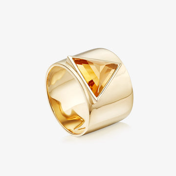 CITRINE ULTIMATE GUARDIAN RING GOLD (WIDE)