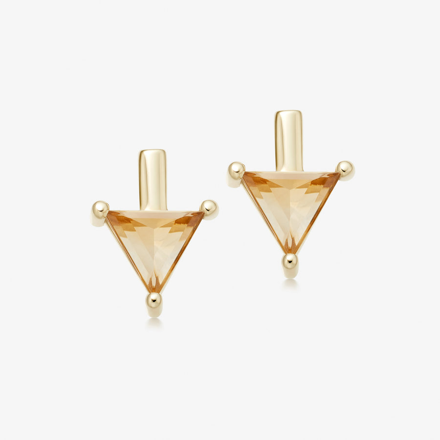 Citrine Nabla Divinity Stud Earrings