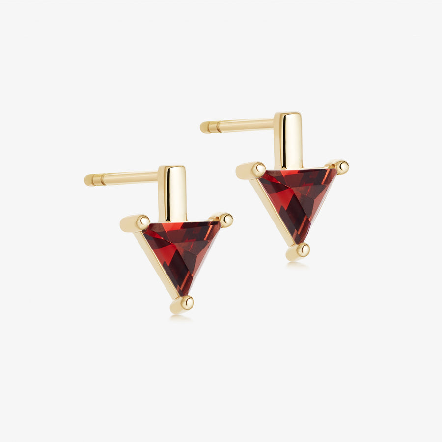 Red Garnet Nabla Divinity Stud Earrings