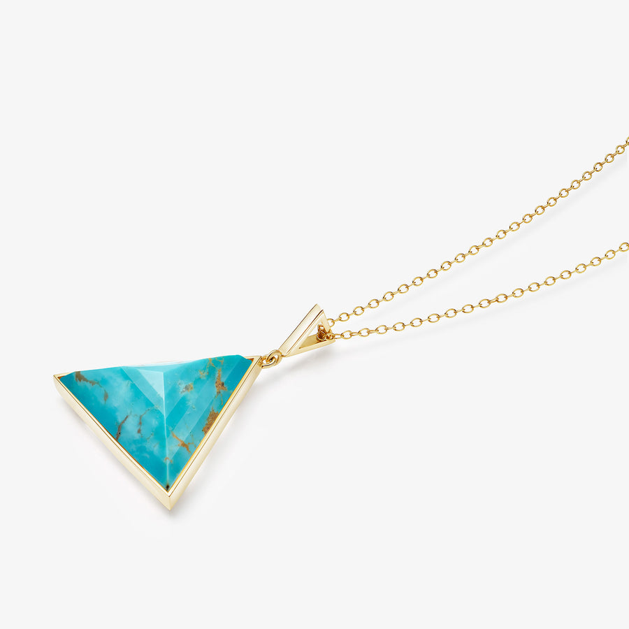TURQUOISE ULTIMATE GUARDIAN PENDANT GOLD (LARGE)