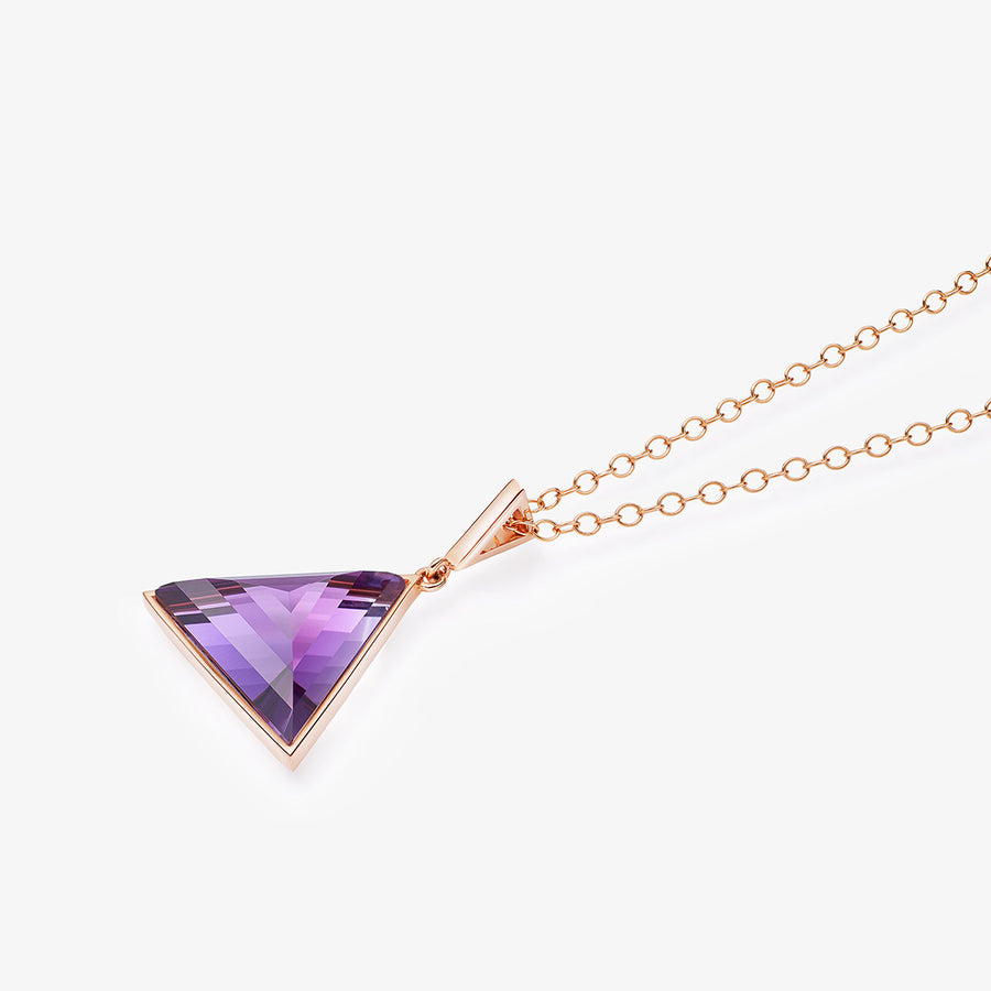 AMETHYST ULTIMATE GUARDIAN PENDANT ROSE GOLD (MEDIUM)