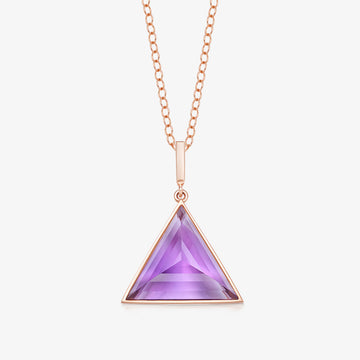 AMETHYST MINI GUARDIAN PENDANT (ROSE GOLD)