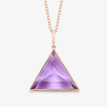 AMETHYST ULTIMATE GUARDIAN PENDANT (ROSE GOLD)