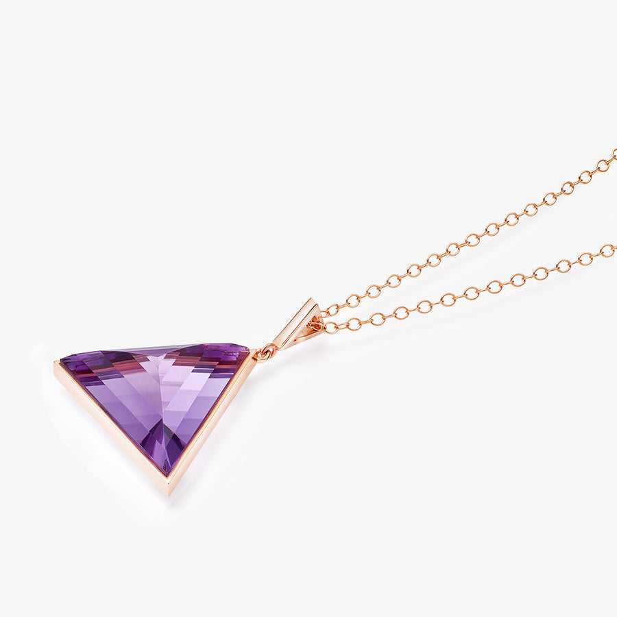 AMETHYST ULTIMATE GUARDIAN PENDANT ROSE GOLD (LARGE)