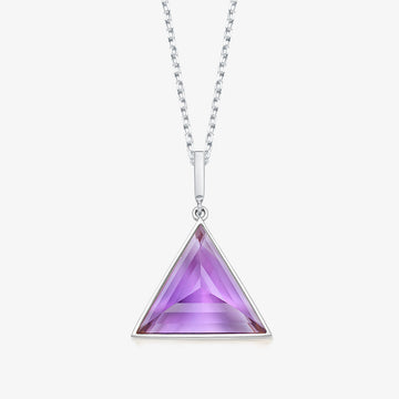 AMETHYST MINI GUARDIAN PENDANT (WHITE GOLD)