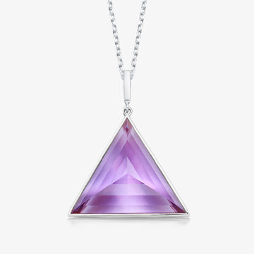 AMETHYST ULTIMATE GUARDIAN PENDANT WHITE GOLD (LARGE)