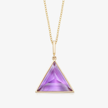 AMETHYST MINI GUARDIAN PENDANT (GOLD)