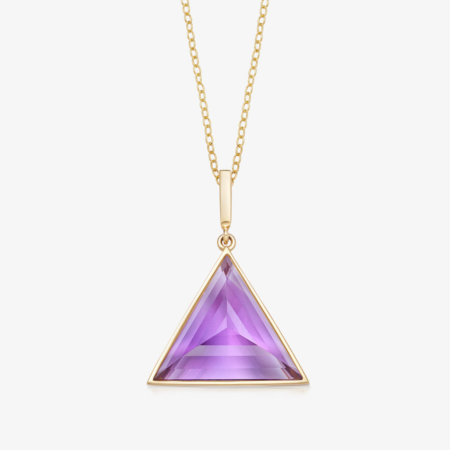 AMETHYST ULTIMATE GUARDIAN PENDANT GOLD (MEDIUM)