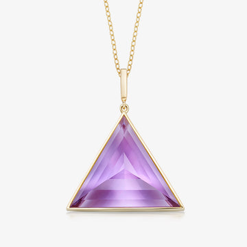 AMETHYST ULTIMATE GUARDIAN PENDANT GOLD (LARGE)