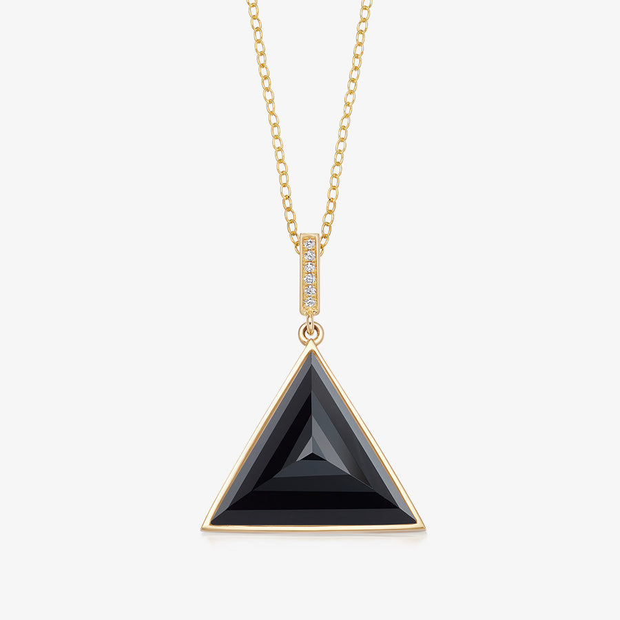 BLACK ONYX ULTIMATE GUARDIAN PENDANT WITH DIAMOND GOLD (MEDIUM)