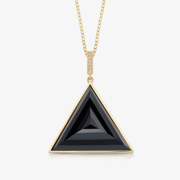 BLACK ONYX ULTIMATE GUARDIAN PENDANT WITH DIAMOND GOLD (LARGE)