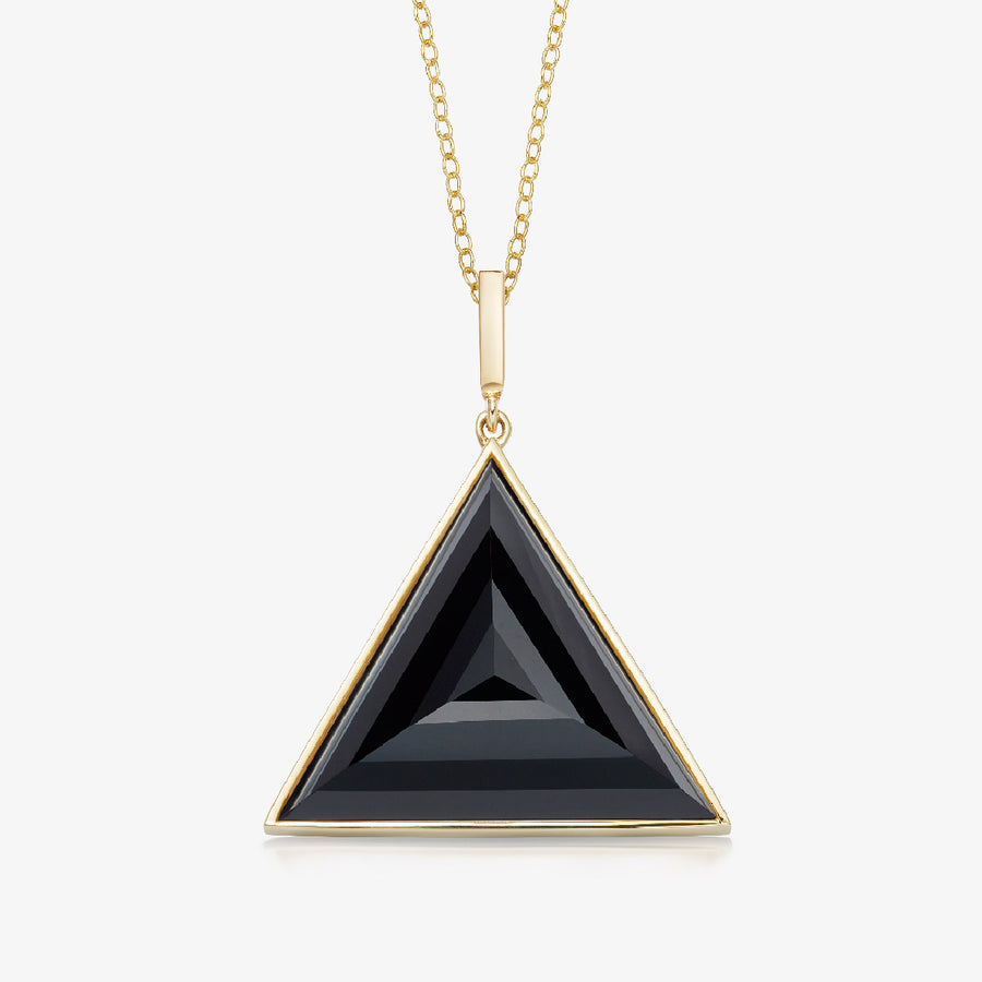 BLACK ONYX ULTIMATE GUARDIAN PENDANT GOLD (LARGE)