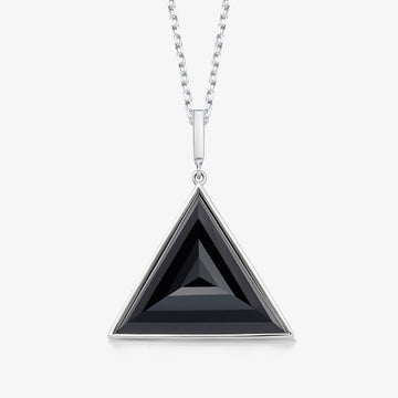 BLACK ONYX ULTIMATE GUARDIAN PENDANT WHITE GOLD (LARGE)