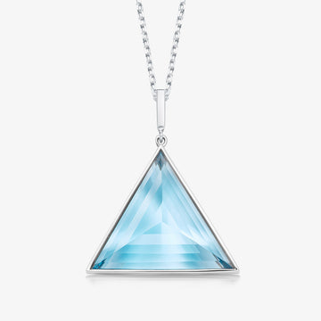 BLUE TOPAZ ULTIMATE GUARDIAN PENDANT (WHITE GOLD)