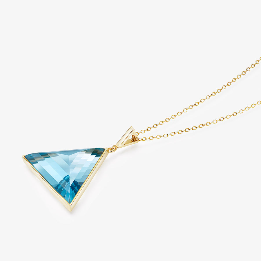 BLUE TOPAZ ULTIMATE GUARDIAN PENDANT GOLD (LARGE)