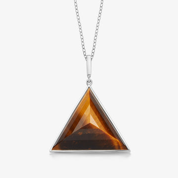 TIGER'S EYE ULTIMATE GUARDIAN PENDANT WHITE GOLD (LARGE)