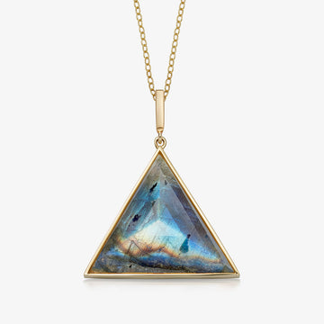 LABRADORITE ULTIMATE GUARDIAN PENDANT GOLD (LARGE)