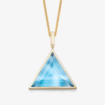 MEN'S BLUE TOPAZ ULTIMATE GUARDIAN PENDANT (GOLD)