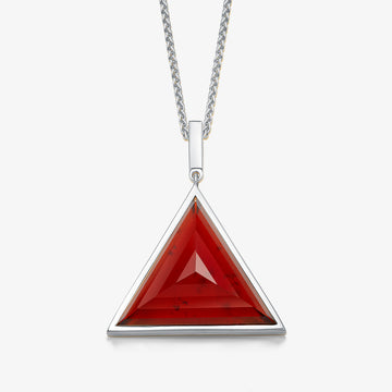 MEN'S RED GARNET ULTIMATE GUARDIAN PENDANT (SILVER)
