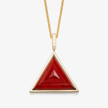 MEN'S RED GARNET ULTIMATE GUARDIAN PENDANT (GOLD)