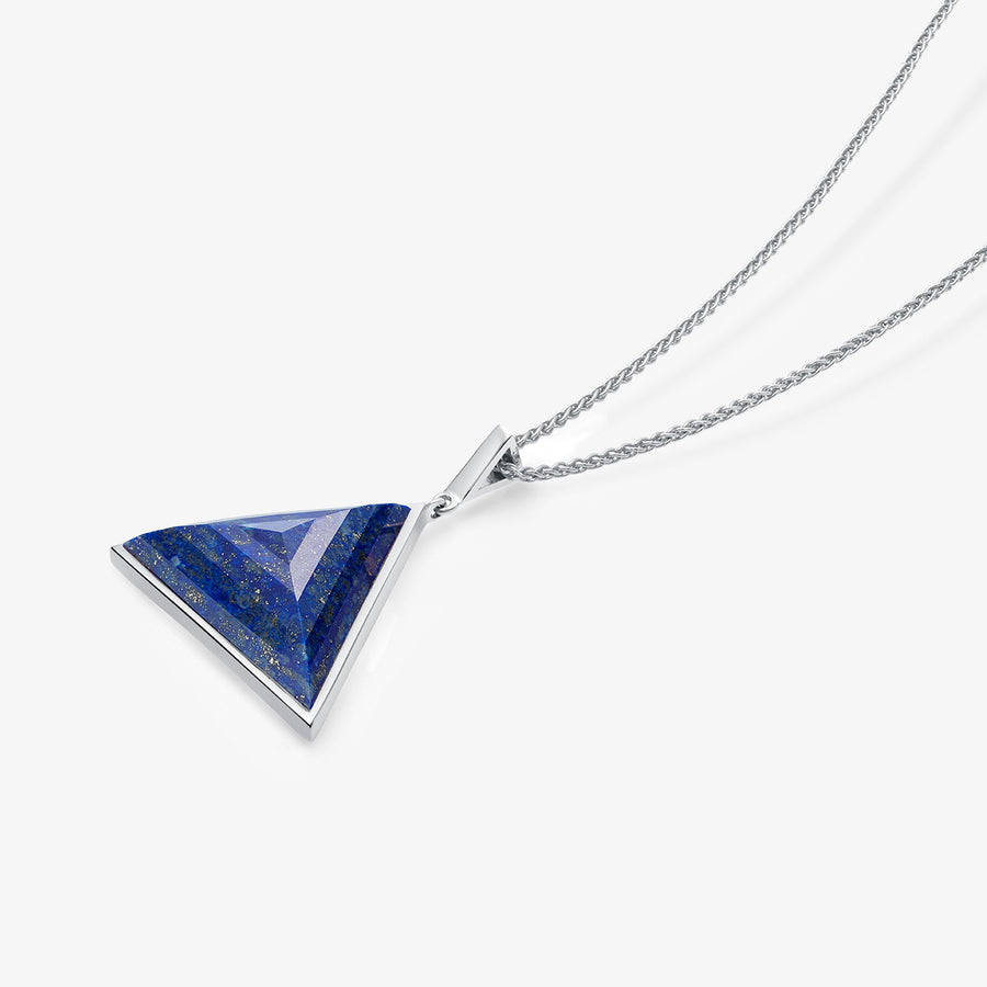 MEN'S BLUE LAPIS ULTIMATE GUARDIAN PENDANT (SILVER)