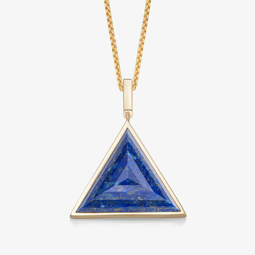 MEN'S BLUE LAPIS ULTIMATE GUARDIAN PENDANT (GOLD)