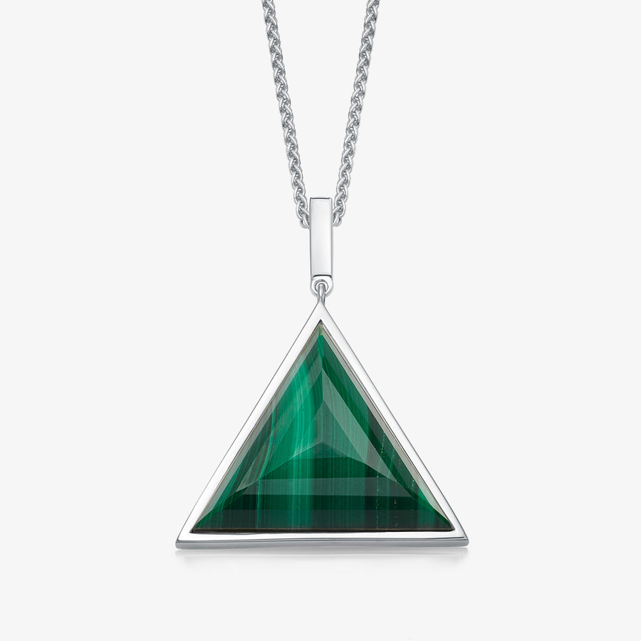 MEN'S MALACHITE ULTIMATE GUARDIAN PENDANT (SILVER)