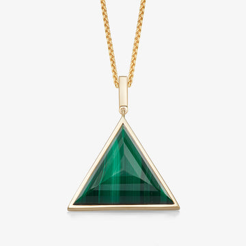 MEN'S MALACHITE ULTIMATE GUARDIAN PENDANT (GOLD)