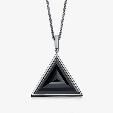 MEN'S BLACK ONYX ULTIMATE GUARDIAN PENDANT (BLACK SILVER)