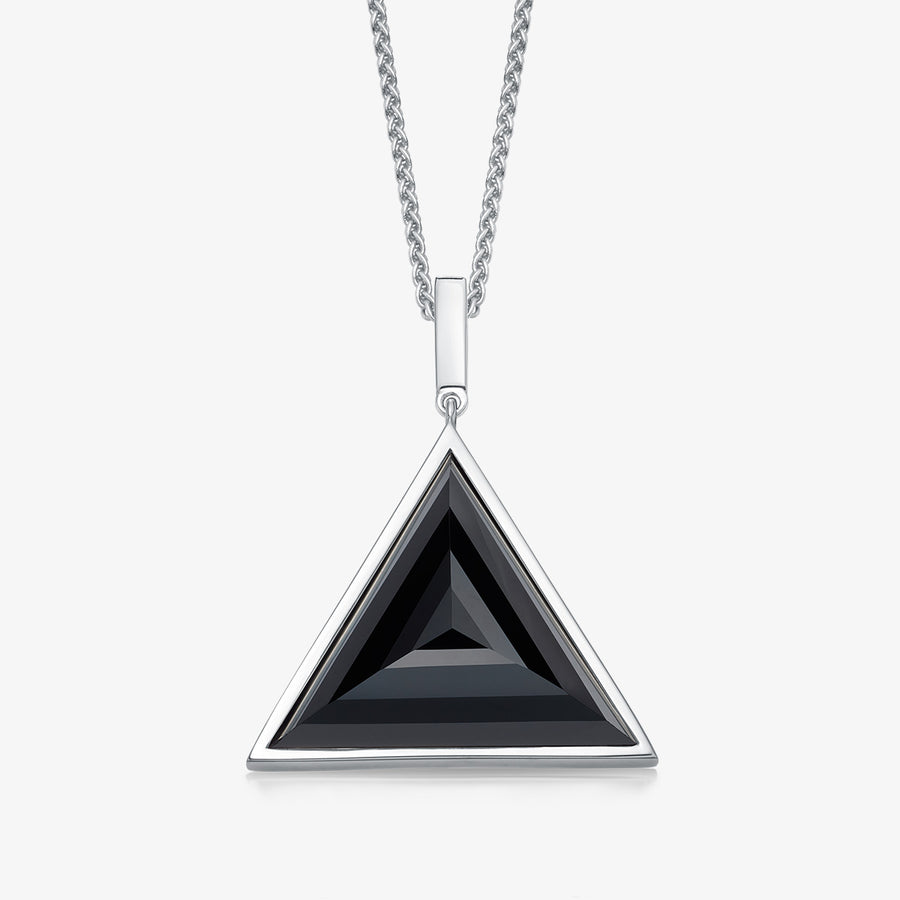 MEN'S BLACK ONYX ULTIMATE GUARDIAN PENDANT (SILVER)