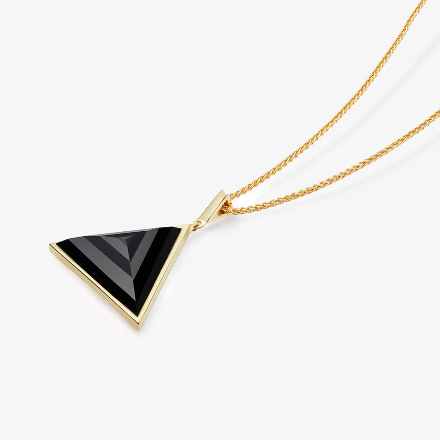 MEN'S BLACK ONYX ULTIMATE GUARDIAN PENDANT (GOLD)
