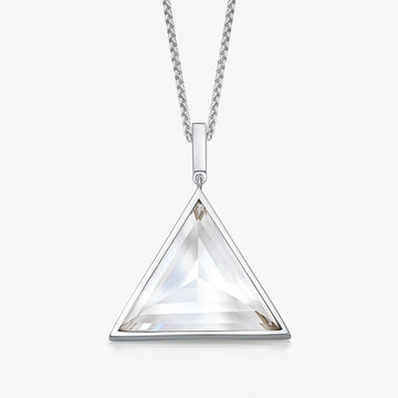 MEN'S CLEAR QUARTZ ULTIMATE GUARDIAN PENDANT (SILVER)