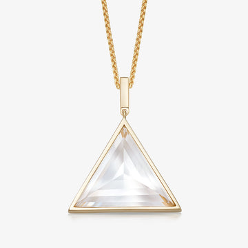 MEN'S CLEAR QUARTZ ULTIMATE GUARDIAN PENDANT (GOLD)