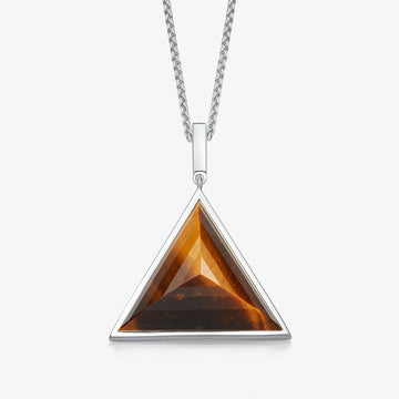 MEN'S TIGER'S EYE ULTIMATE GUARDIAN PENDANT (SILVER)