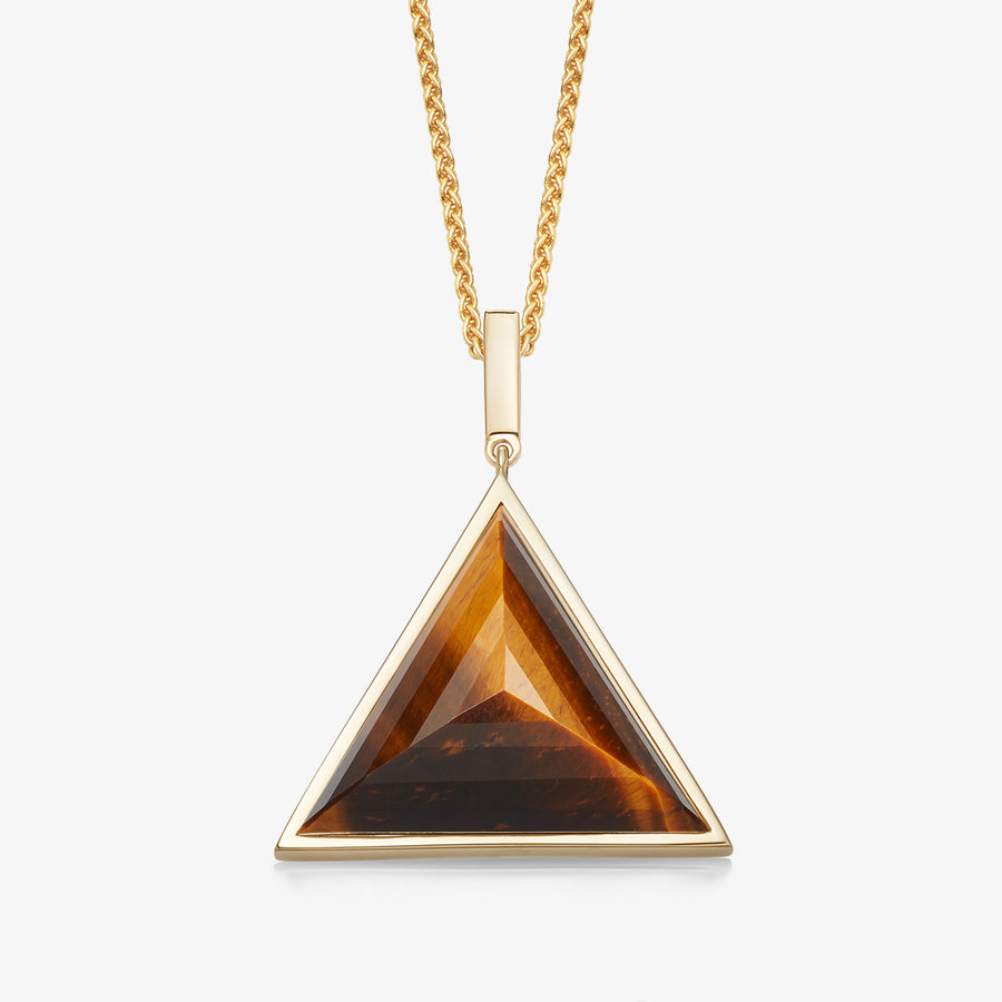 MEN'S TIGER'S EYE ULTIMATE GUARDIAN PENDANT (GOLD)