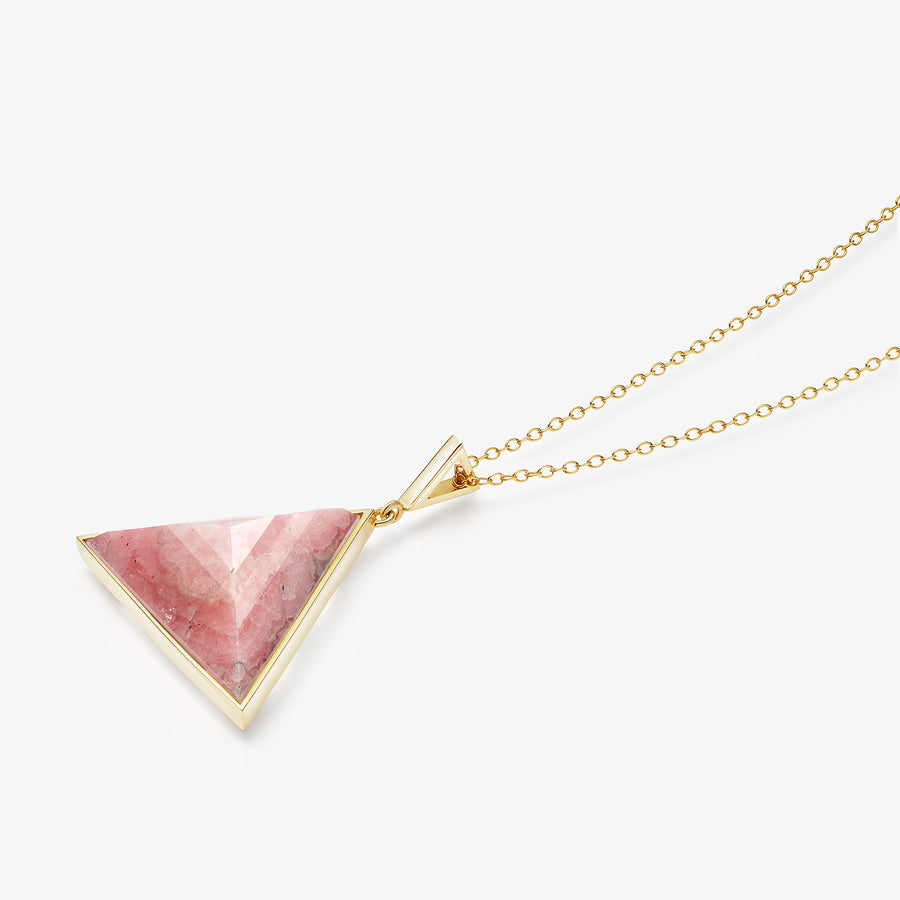 PINK AVENTURINE ULTIMATE GUARDIAN PENDANT GOLD (LARGE)