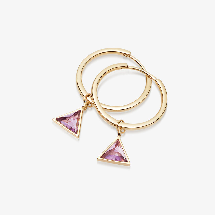 AMETHYST ULTIMATE GUARDIAN EARRINGS GOLD (MEDIUM)