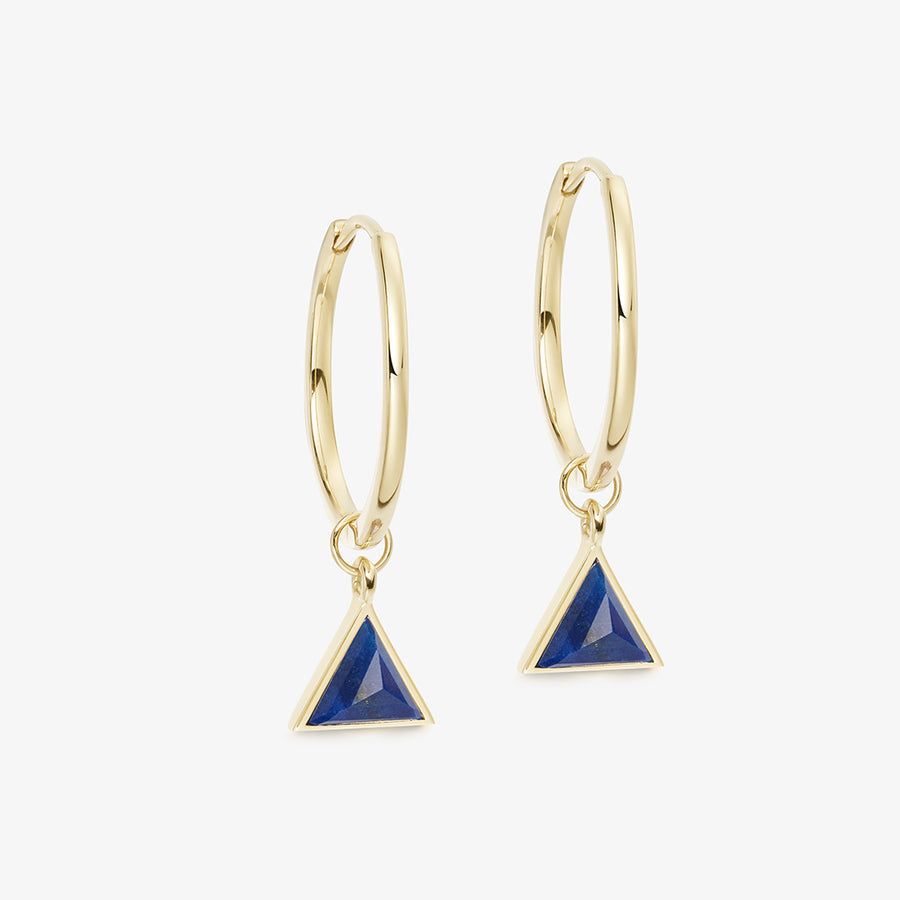 BLUE LAPIS ULTIMATE GUARDIAN EARRINGS GOLD (MEDIUM)