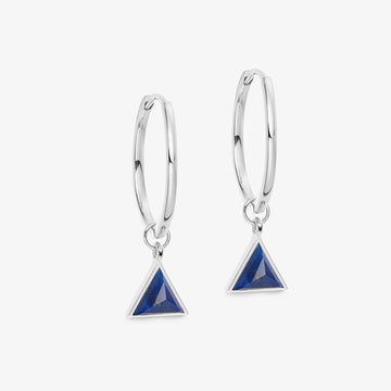 BLUE LAPIS ULTIMATE GUARDIAN EARRINGS WHITE GOLD (MEDIUM)