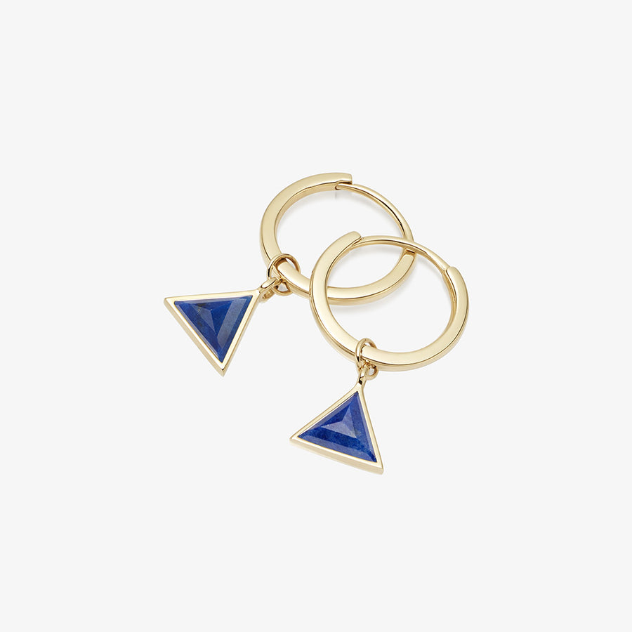 BLUE LAPIS ULTIMATE GUARDIAN EARRINGS GOLD (MINI)